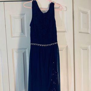 Girls size 8 blue formal dress
